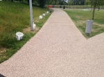 Resin bonded gravel on newly constructed footpaths at Kidbrooke Park